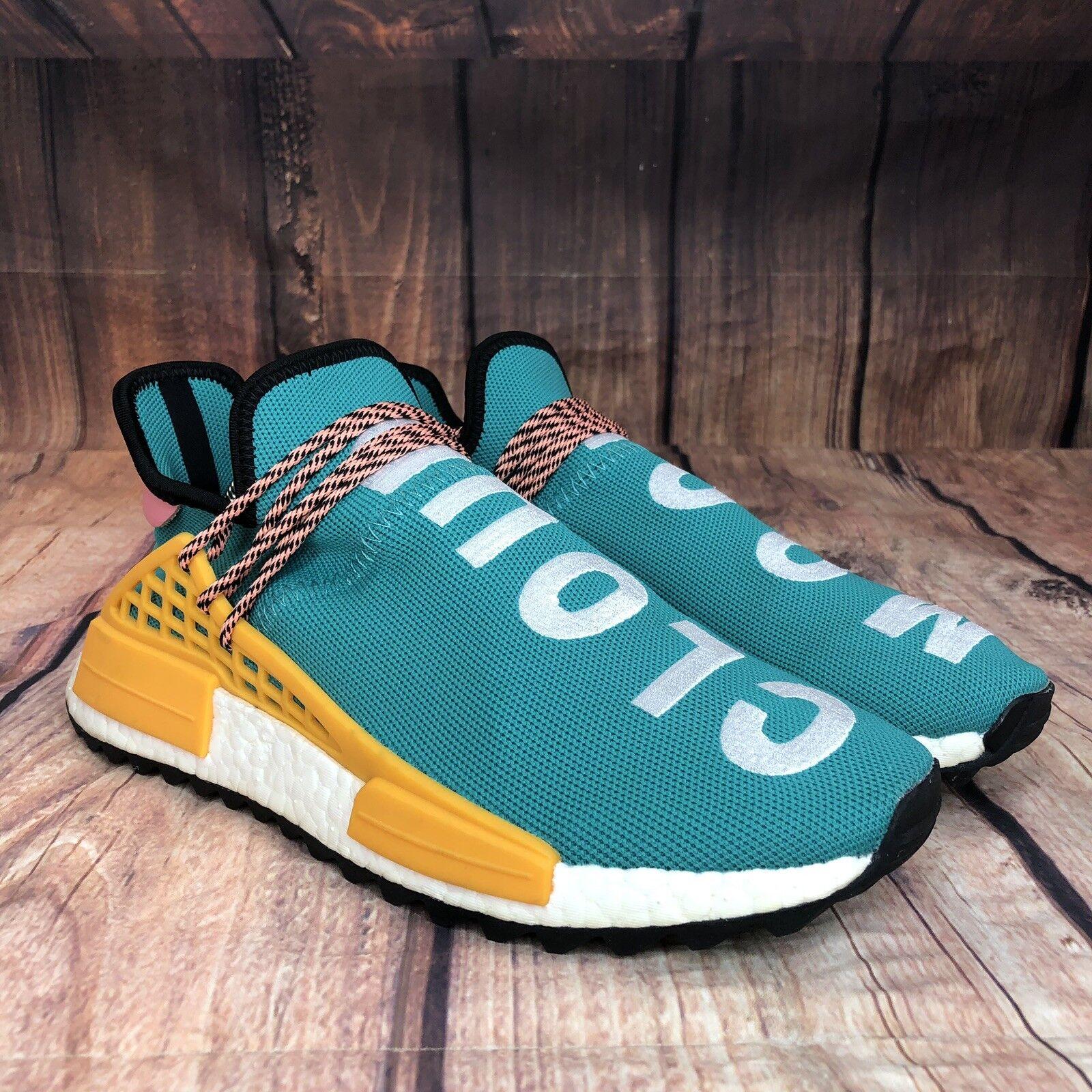 Adidas Human Race Pharell Williams Sun Glow NMD Men Size 10.5 Teal bluee AC7188