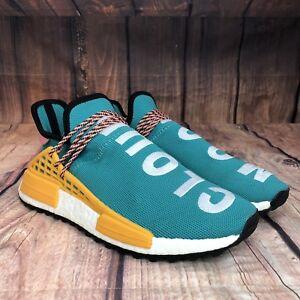 b48d0fe79 Adidas Human Race Pharell Williams Sun Glow NMD Men Size 10.5 Teal ...
