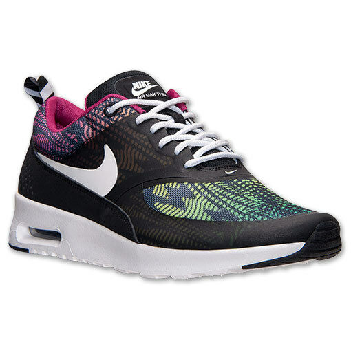 AUTHENTIC NIKE Air Max Thea Blk Green Multi-Color Rainbow 599408 065 Femme Taille