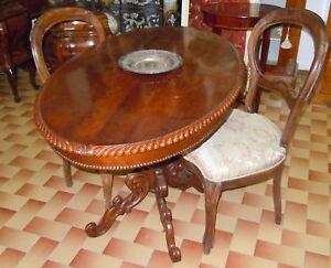 Tavolo Ovale Antico : 800 antico tavolo ovale in mogano a fusto centrale ebay