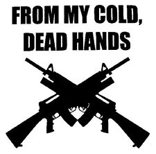 'From My Cold Dead Hands' Gun,Outdoor,Hunting,Truck, RV,Window Car Dacal