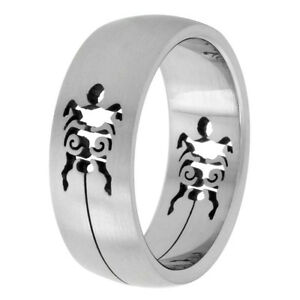 8mm-Stainless-Steel-Turtle-Cut-out-Design-Domed-Wedding-Band-Ring