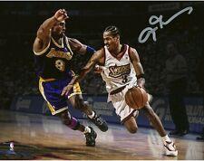 Allen Iverson / Kobe Bryant Autographed Signed 8x10 Photo ( HOF 76ers ) REPRINT