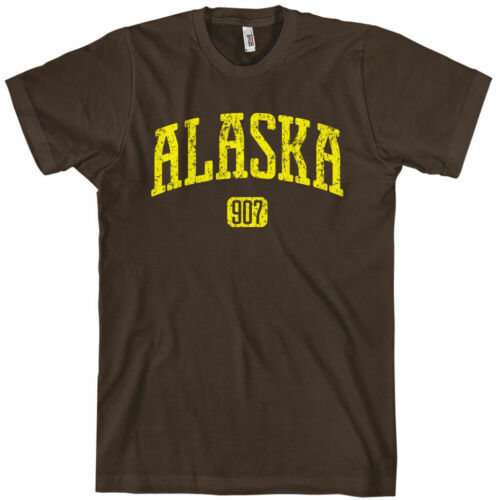 ALASKA T-shirt Area Code 907 Anchorage Denali XS-4XL