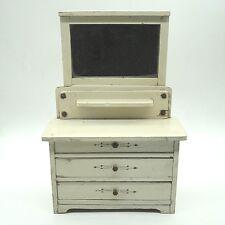 Antiker Puppenschrank Frisierkommode original keine Repro unrestauriert ca.30x20