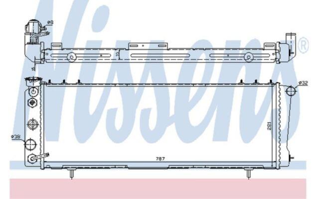 NISSENS Radiador, refrigeración del motor JEEP CHEROKEE 609881