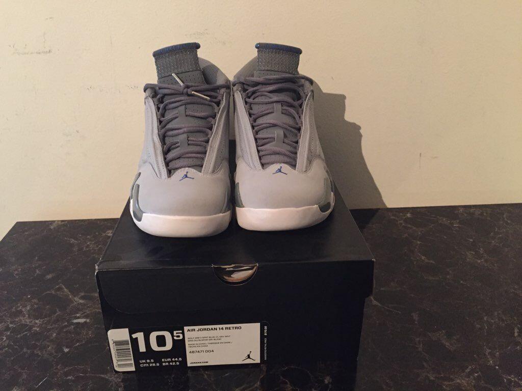 Nike Air Jordan Retro 14 Cool  Wolf Grey  2014 Mens Sz 10.5