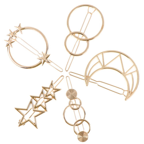 Fashion Hollow Hair Clips Geometric Alloy Hairgrip Hair Styling Accessories