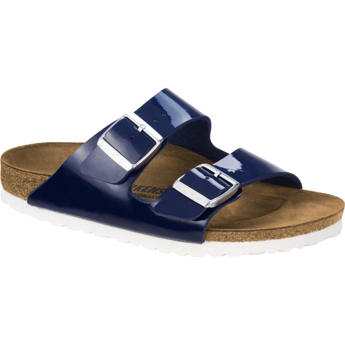 Birkenstock Sandalen Arizona Birko Flor Lack Schuhe Sandalen Birkenstock blue 1005296 Weite schmal 770fec