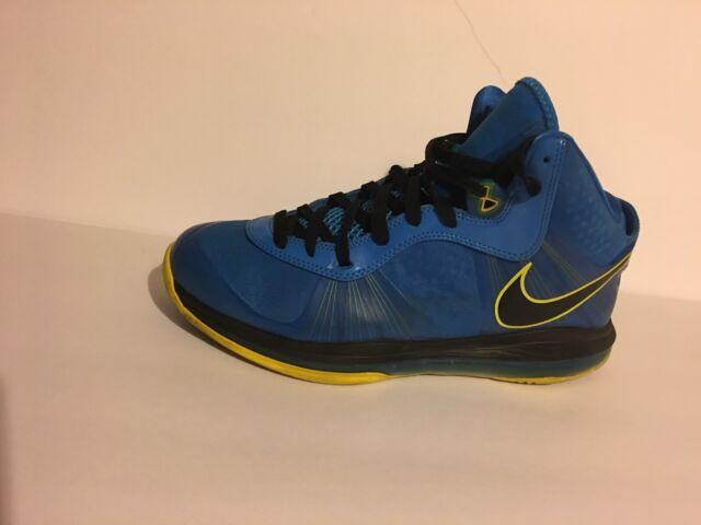 sale retailer 4e194 84467 Nike Lebron 8 v 2 - Entourage Photo Blue Black Yellow - 424676-401