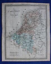 Original antique map BELGIUM, NETHERLANDS, Felix Ansart, c.1855