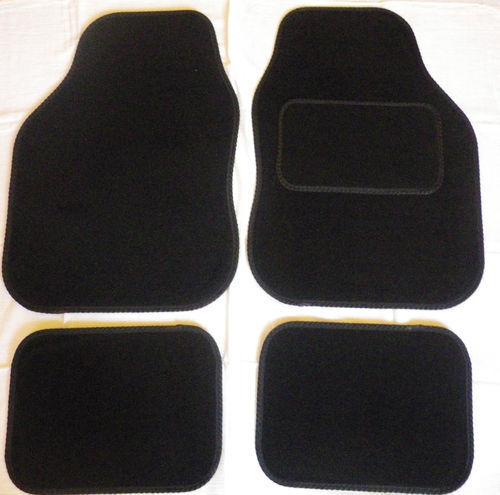 Car Mats Black trim car mats for FORD FIESTA FOCUS MONDEO KA KUGA