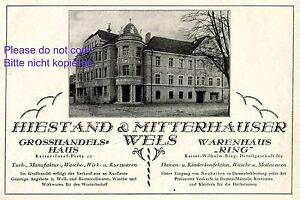 Kaufhaus-Hiestand-amp-Mitterhauser-Wels-Reklame-1926-Osterreich-Warenhaus-Mode
