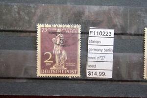 STAMPS-GERMANY-BERLIN-YVERT-N-27-USED-F110223