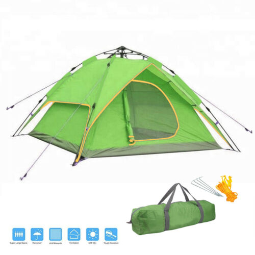 3-4 Person Automatic Pop Up Camping Tent Dual Layer Outdoor Sleeping Gears 2