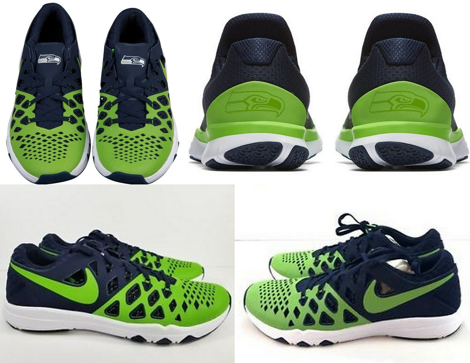 NIKE  140 Train Speed 4 Amp NFL Seattle Seahawks Running shoes  9.5 Green-bluee