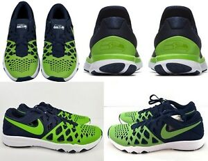 9b828249b990 NIKE $140 Train Speed 4 Amp NFL Seattle Seahawks Running Shoes 9.5 ...