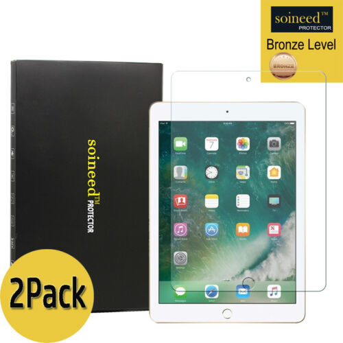 SOINEED Apple iPad Air 1 Air 2 9.7 Tempered Glass Screen Protector 2-Pack