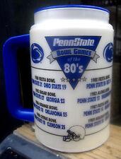 """Penn State Football """"Bowl Games of the 80's"""" Lrg Thermal 12oz Mug Whirley"""