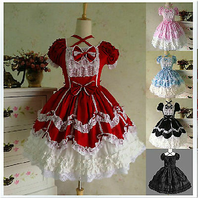 Classical Lolita Vintage Ladies Party Customized Sleeveless Cosplay Costumes