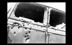 Details about BONNIE & CLYDE Death Car PHOTO Gangster Car Bullet Holes,1932  Ford, gun shots