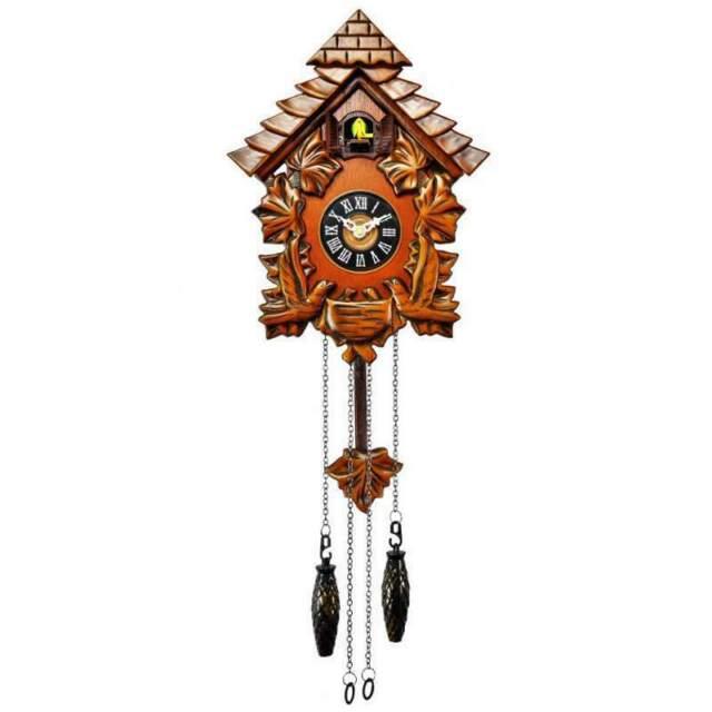 NEW Cambridge Bricks Wooden Pendulum Cuckoo Clock, 28cm