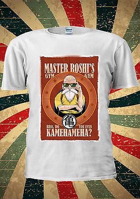 Abile Master Roshi Muten Gym 武天老師 Dragon Ball T-shirt Canotta Uomini Donne Unisex 2046-mostra Il Titolo Originale Il Prezzo Rimane Stabile