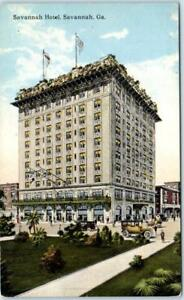 SAVANNAH-Georgia-GA-SAVANNAH-HOTEL-ca-1910s-20s-Postcard
