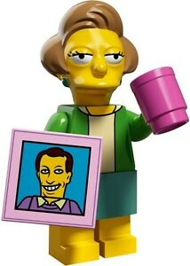 The-Simpsons-2-Lego-collectible-minifig-Mrs-Krabappel-teacher-039-s-mug