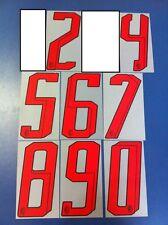 milan 2007-2008 numero numeri rossi a scelta x maglia milan adidas nuovo nuovi