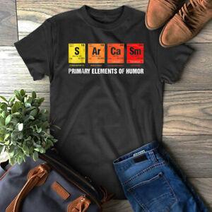 SéRieux Science T-shirt Sarcasme S Ar Ca Sm Primaire Des éléments De L'humour Sarcastique-afficher Le Titre D'origine