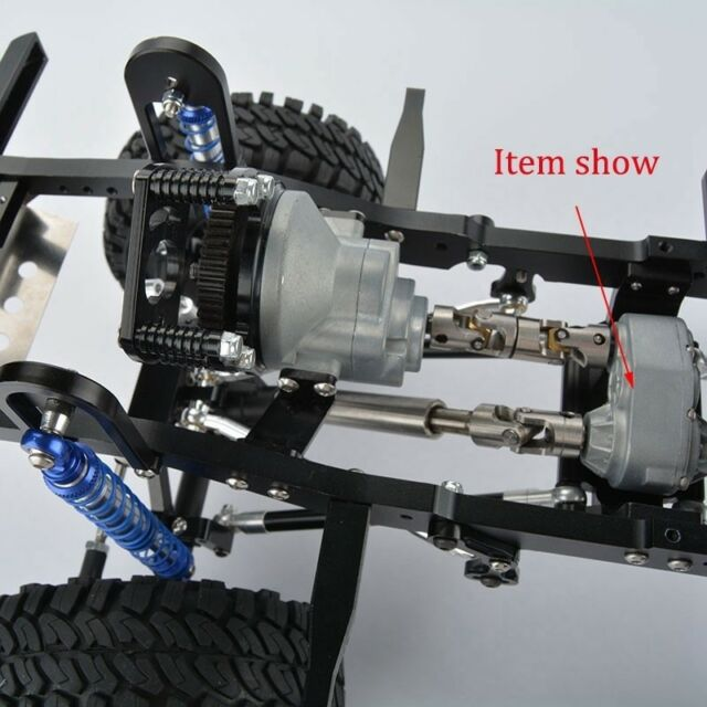 1//10 Metal Transfer Case for 1:10 RC Car SCX10 RC4WD Gelande II D90 RC CrawN7C5