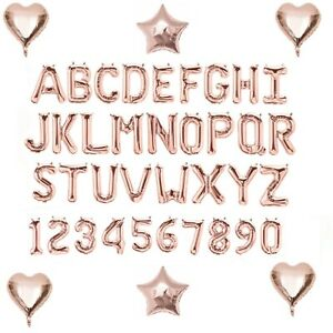 Rose-Gold-Alphabet-Letter-amp-Number-Foil-Balloons-FORM-PERSONALISED-BIRTHDAY-NAME
