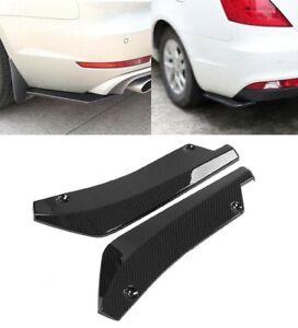 XJ XF Carbon Fibre 2 Pcs Rear Bumper Lip Spoiler Canard Diffuser Wrap Angle Compatible With XE XJ220