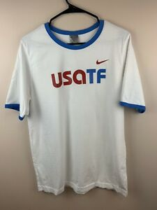Details about Team Nike USA Track & Field USATF 79 T Shirt Mens Swoosh White XL