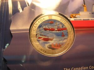 Canada-2012-50th-Anniversary-Canadian-Coast-Guard-Coloured-25-Cent-RCM-Mint-Set