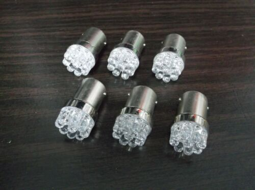 6 BBT Heavy Duty 12 volt 1141 Blue LED Landscape Light Bulbs
