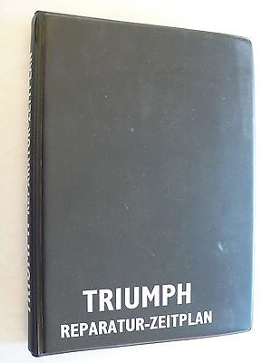 100% Vero Triumph-riparazione Calendario, Circa 1972, 0,6 Kg, Din A5 Raccoglitori Con Registro- Rendere Le Cose Convenienti Per I Clienti