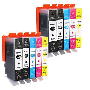 New-INK-For-HP-564XL-Ink-Cartridge-Photosmart-6510-6520-7510-7520-DeskJet