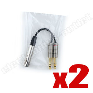 PAIR-6-inch-Y-cable-XLR-FEMALE-to-2-1-4-034-TRS-ZP-YXLRF14D