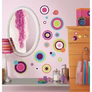 Image Is Loading CRAZY POLKA DOTS CIRCLES Wall Stickers 31 Colorful