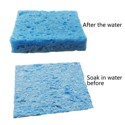 5pcs//lot Soldering Iron Solder Tip Welding Cleaning Sponge PadR Z-*BCDEMVDE