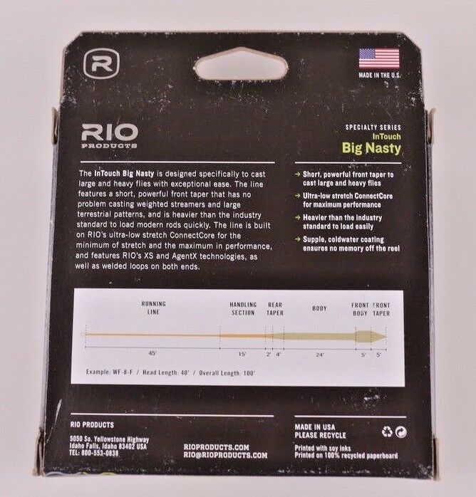 Rio InTouch Big Big Big Nasty WF10F Fly Line Camo Orange Free Fast Shipping 6-21175 b9d7ce