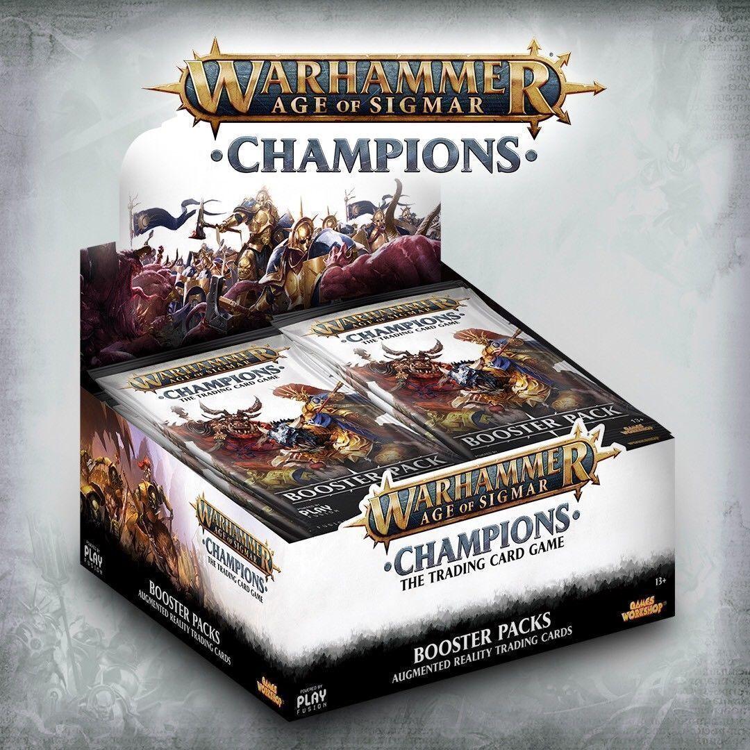 Warhammer TCG edad de Sigmar Campeones Booster Box mostrar Sellado -- En Mano