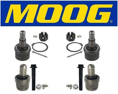 6.7L Moog 2 Upper /& 2 Lower Ball Joints 2012 Ford F-250 Super Duty 4x4 4WD 6.2L