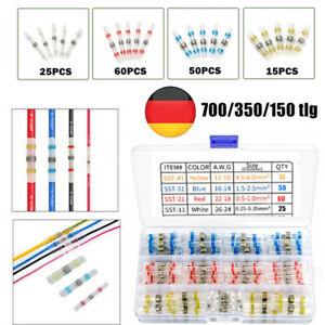 150tlg Schrumpfverbinder Löten Kabelverbinder Stoßverbinder Quetschverbinder Set