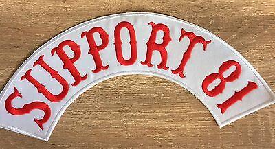Di Animo Gentile Support 81 Patch Ricamate Back Patch Nuovo 40x9cm Mc, 81, Tonaca, Biker, Chopper-ker,chopper It-it Mostra Il Titolo Originale Ampia Fornitura E Consegna Rapida