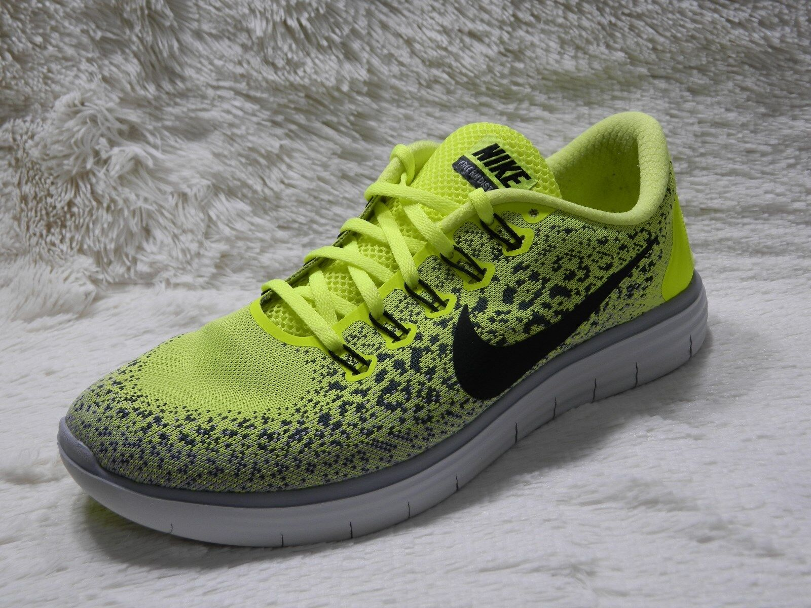 Nike Free RN Distance Mens Shoes Size 10 Running Trainers Yellow  FREE S&H