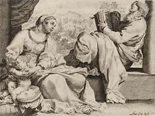 ANNIBALE CARRACCI ITALIAN HOLY FAMILY SAINT JOHN BAPTIST ARTWORK PRINT BB4866A
