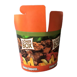 500 dönerbox 16 Oz//DONER BOX//FOODBOX//nudelbox//Take Away//gyrosbox//asiabox